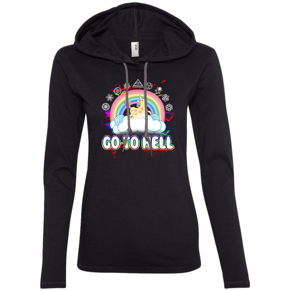 Go To Hell Ladies T-Shirt Hoodie