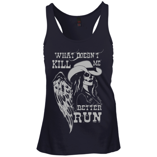 What Doesn't Kill Me Juniors Racerback Tank
