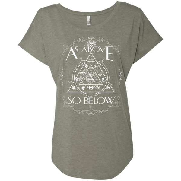 As Above So Below Ladies Dolman Sleeve