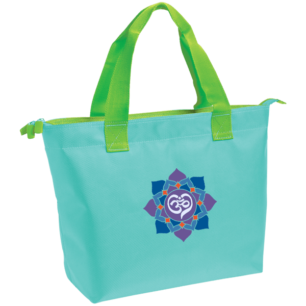Om Heart Zippered Tote Bag