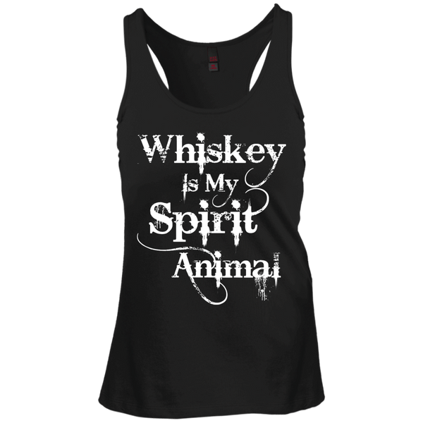 Whiskey Is My Spirit Animal Juniors Racerback