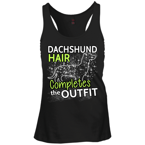 Dachshund Hair Juniors Racerback Tank Top