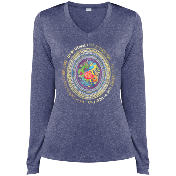 Hamsa Ladies LS Dri-Fit V-Neck Tee