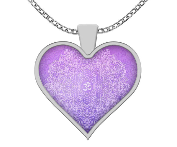 Om Mandala Heart Necklace
