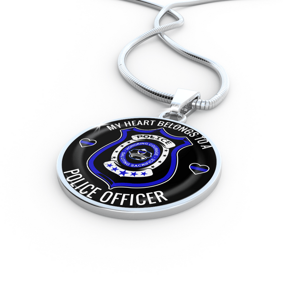 My Heart Belongs To A Police Officer Jewelry