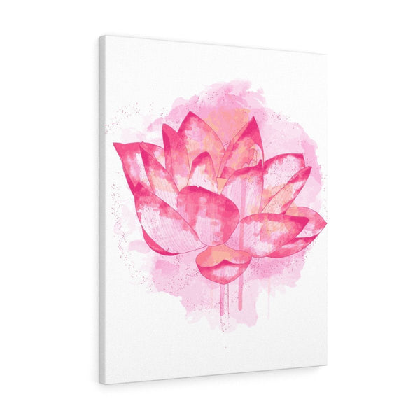 Lotus Watercolor Stretched Canvas Prints
