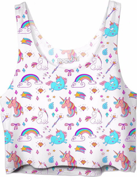 Unicorn Fantasy Crop Top
