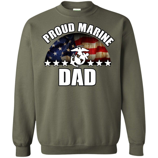 Crewnecks - Marine Dad Sweatshirt
