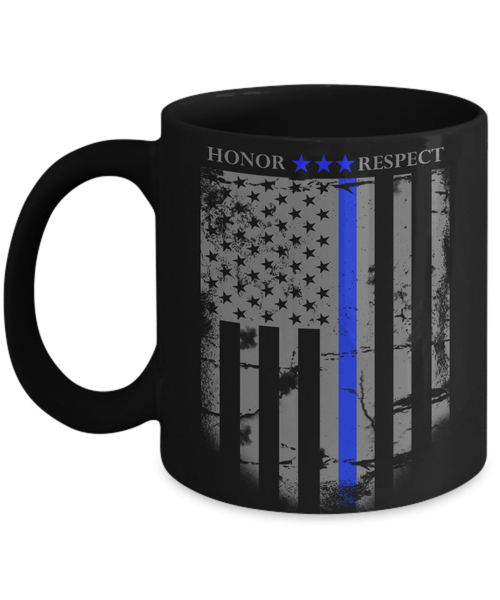 American Blue Line Honor Coffee Mug