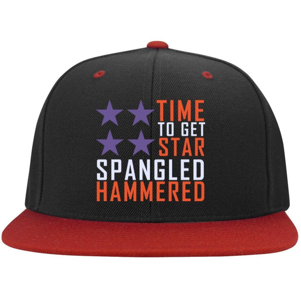 Hats - Time To Get Star Spangled Hammered Snapback Hat