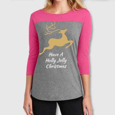 Holly Jolly Juniors' Rally 3/4 Sleeve T-Shirt