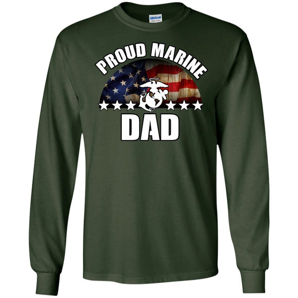 Long Sleeve - Marine Dad Long Sleeve Tee
