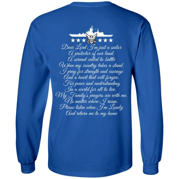 Long Sleeve - Navy Dad Mens Long Sleeve Tee