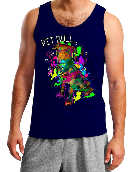 Mens Tank Top - PIT BULL ART MENS TANK TOP