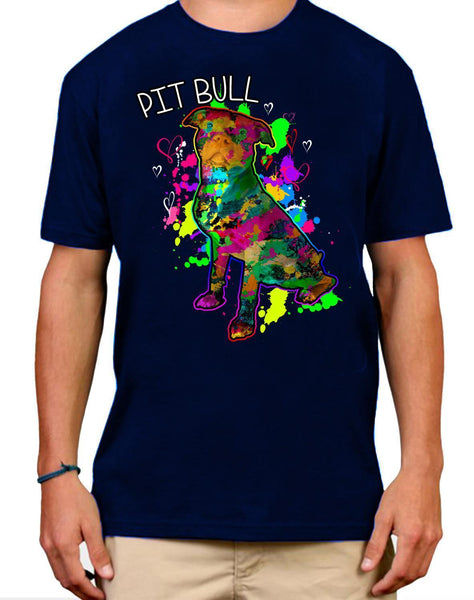 Mens Tshirts - Pit Bull Art Mens T-shirt