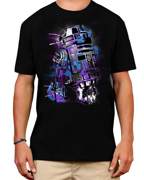 Mens Tshirts - R2D2 SPLASH GRAFFITI MENS T-SHIRT