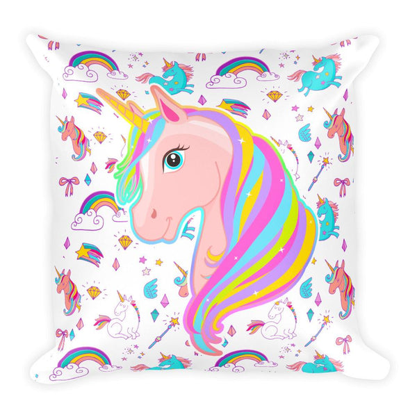 Unicorn Fantasy Square Pillow