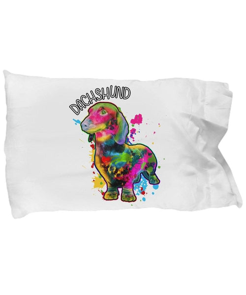 Pillow Case - Dachshund Art Pillow Case