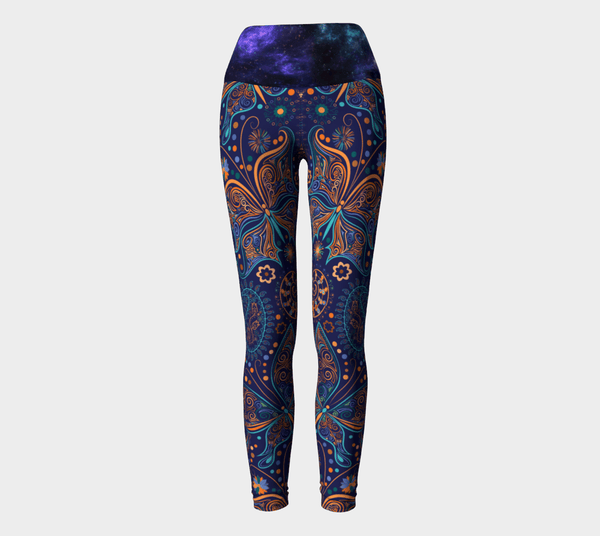 Electric Butterfly Yoga Leggings