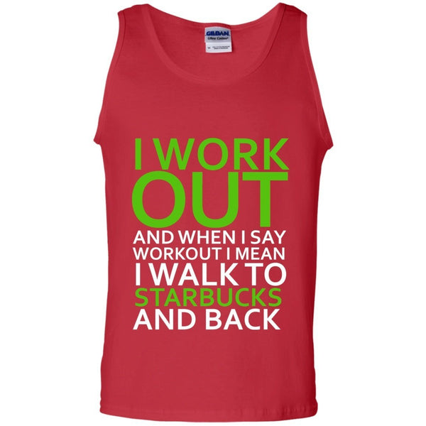 Sleeveless - I Workout Starbucks Mens Tank