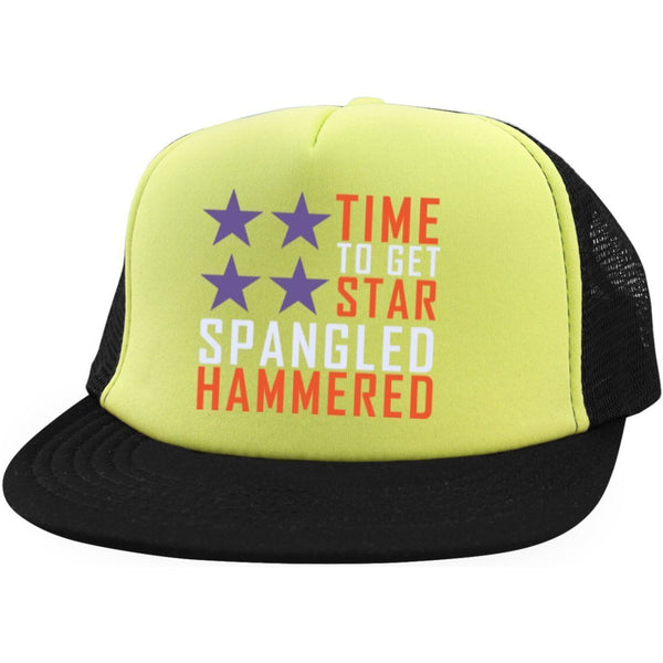 Snap Back - Time To Get Star Spangled Hammered Trucker Hat