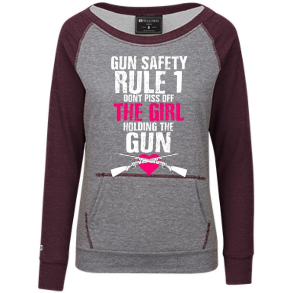 Sweatshirts - Gun Safety Rule #1 Juniors Terry Crew