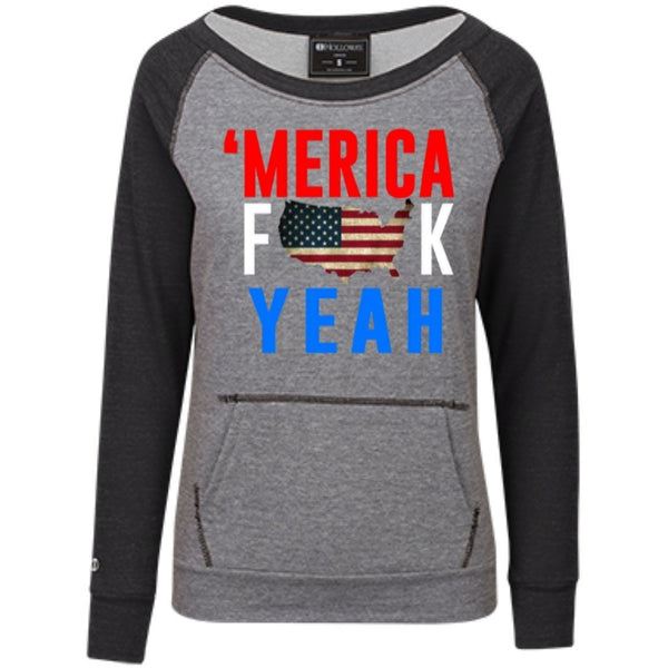 Sweatshirts - MERICA Fuck Year Juniors' Vintage Terry Fleece Crew