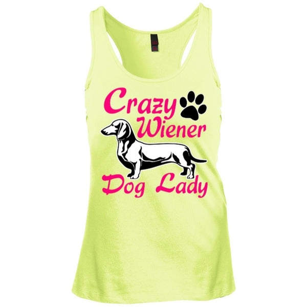 T-Shirts - Crazy Wiener Dog Lady Juniors Racerback Tank Top