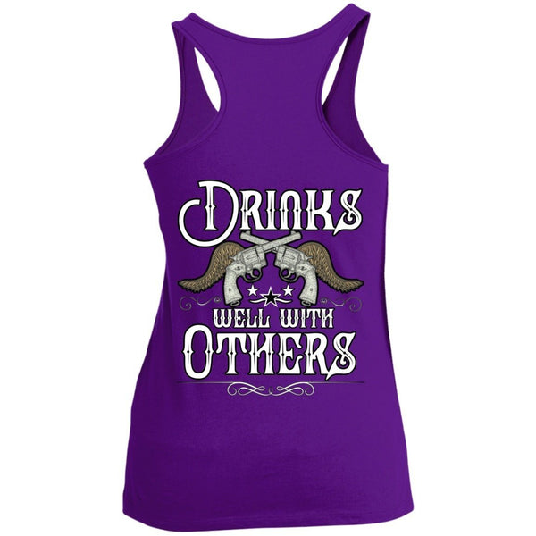 T-Shirts - Drinks Well With Others Racerback Tank Top