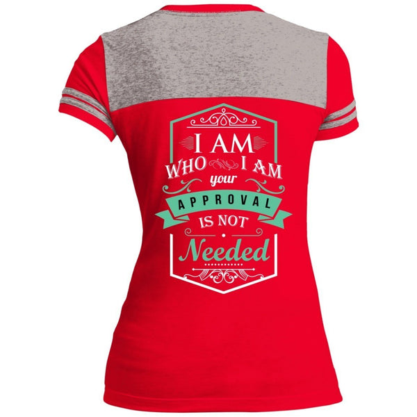T-Shirts - I Am Who I Am Juniors Varsity V-Neck