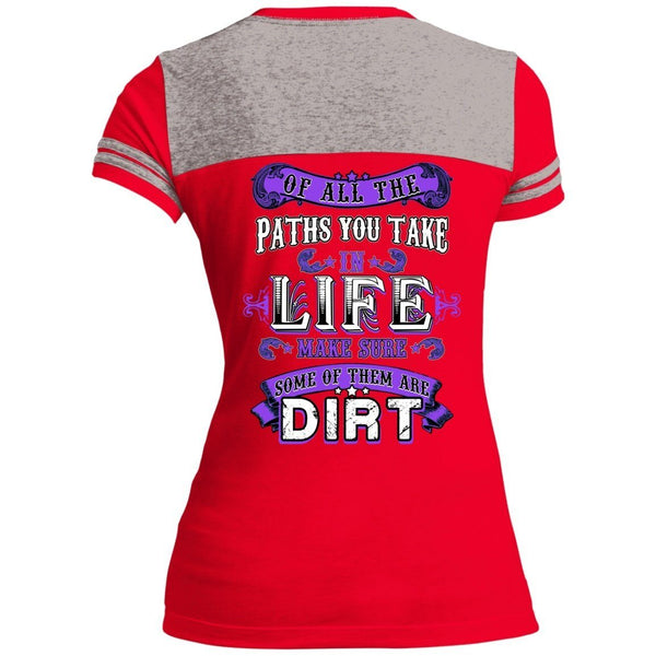 T-Shirts - Life Paths Juniors Varsity V-Neck Tee