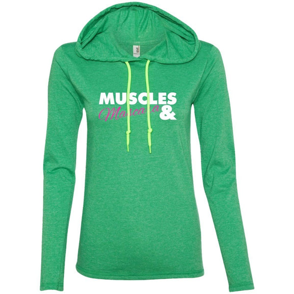 T-Shirts - Muscles And Mascara Womens T-Shirt Hoodie