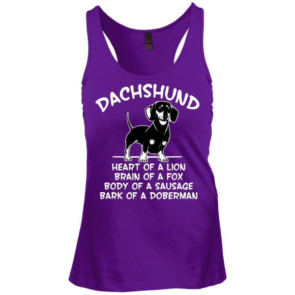 T-Shirts - My Dachshund Juniors Racerback Tank Top
