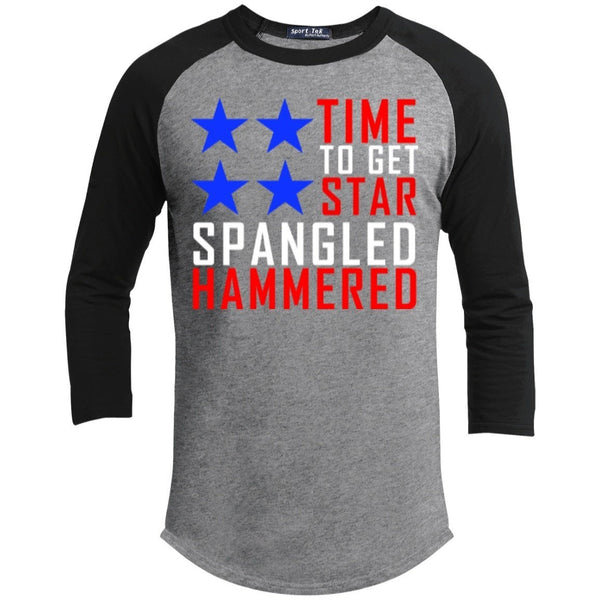 T-Shirts - Time To Get Star Spangled Hammered Sporty Tee