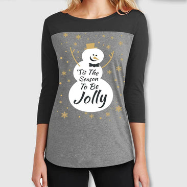 Tis The Season Juniors' Rally 3/4 Sleeve T-Shirt