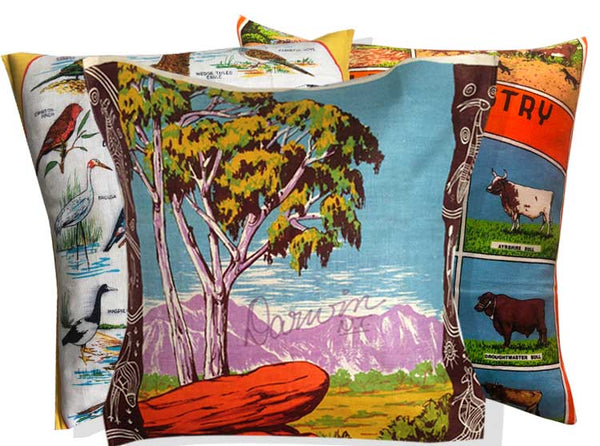 Northern Territory souvenir teatowel cushion covers