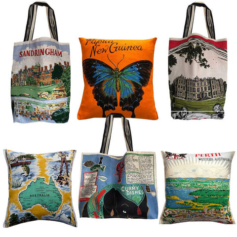 LoveAndWest will use your linens for cushion covers and totes. Great gifts