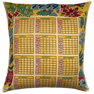 Buy 1959 calendar cushion | original teatowel | 60th birthday gift