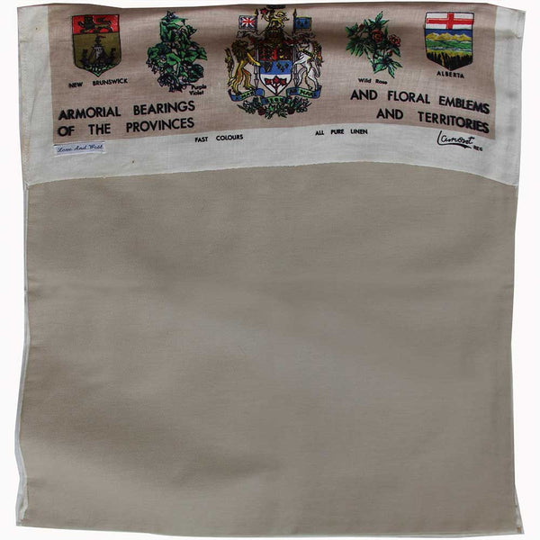 1969 Canada linen teatowel cushion cover