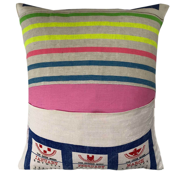 50th birthday gift vintage calendar cushion cover