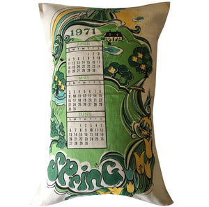 1971 calendar cushion cover
