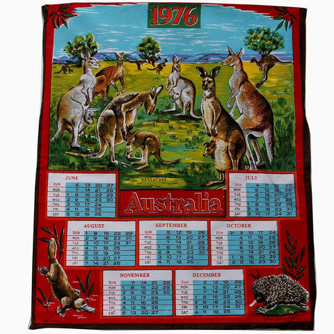 Love And West 1976 Australian fauna teatowel cushion cover