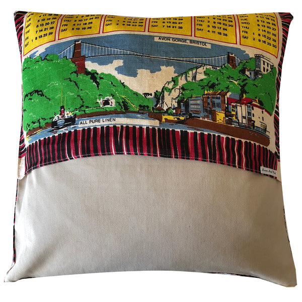 1978 friends calendar teatowel cushion cover