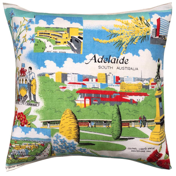 Adelaide in charming colours teatowel cushion cover
