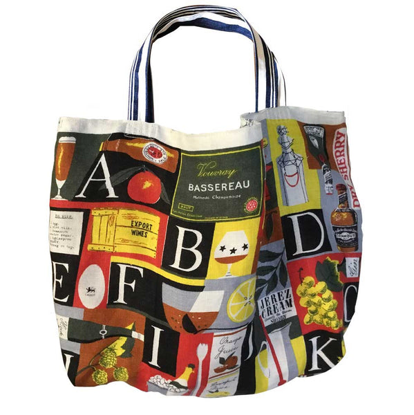 Alphabet of cocktails tote