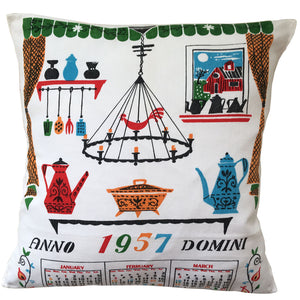 1957 teatowel cushion cover