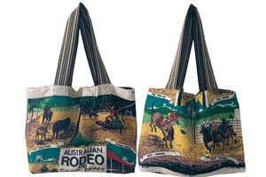 Rodeo and Campdrafting teatowel tote