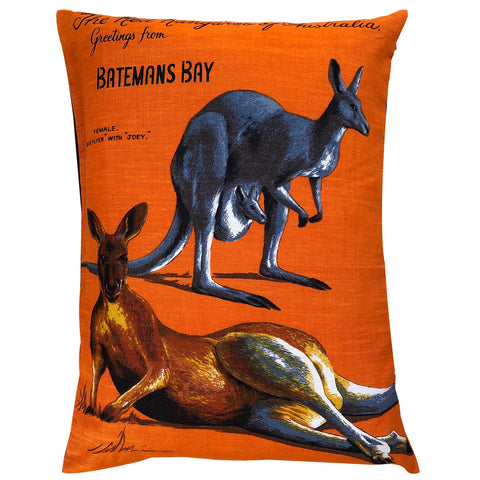 Greetings from Batemans Bay souvenir teatowel cushion cover