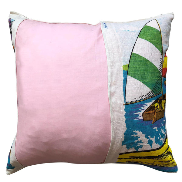 Big River Country retro teatowel cushion cover