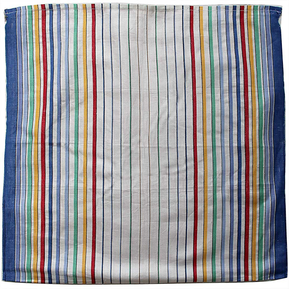 Love And West striped vintage teatowel cushion cover